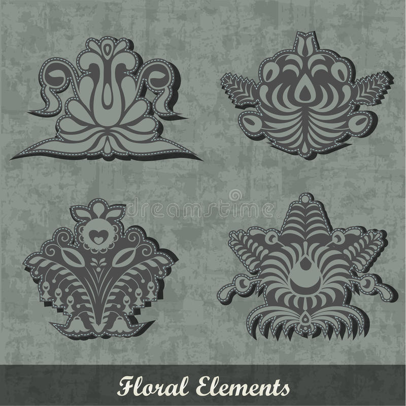 Download Floral Decoration Elements / Army Style Stock Illustration - Image: 22009780