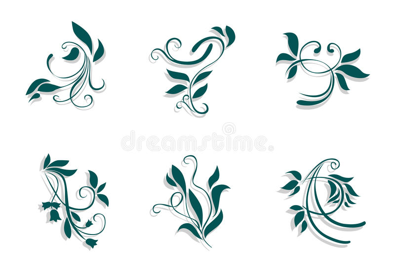 Download Floral decorations stock vector. Illustration of isolated - 11282696