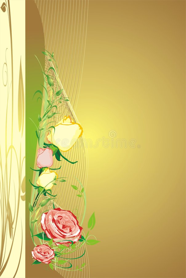 Floral decorative background for holiday's card. B stock illustration