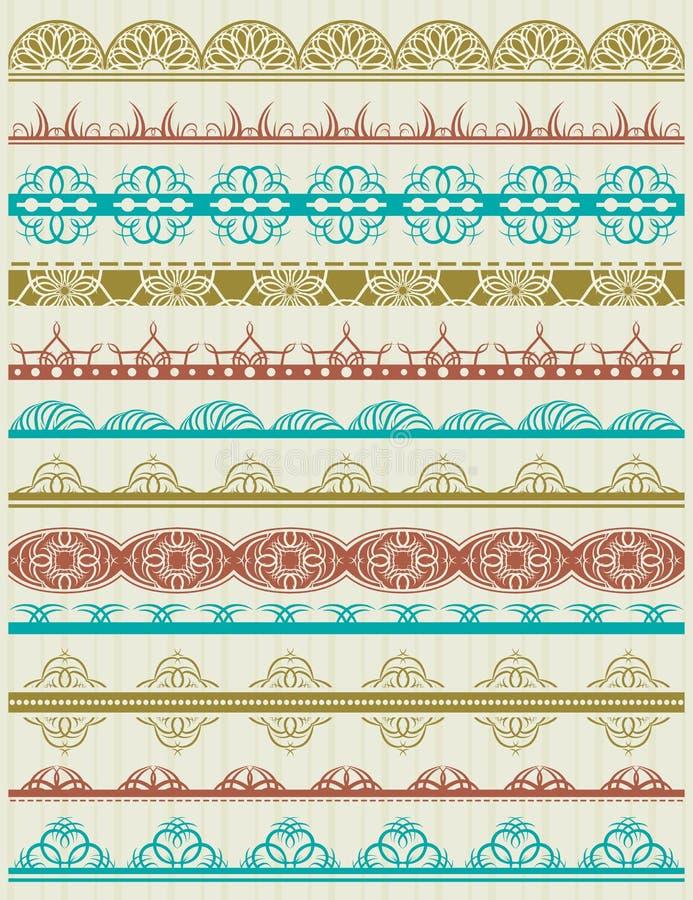 Download Floral Decorative Borders, Ornamental Rules, Divid Stock Vector - Image: 30562318