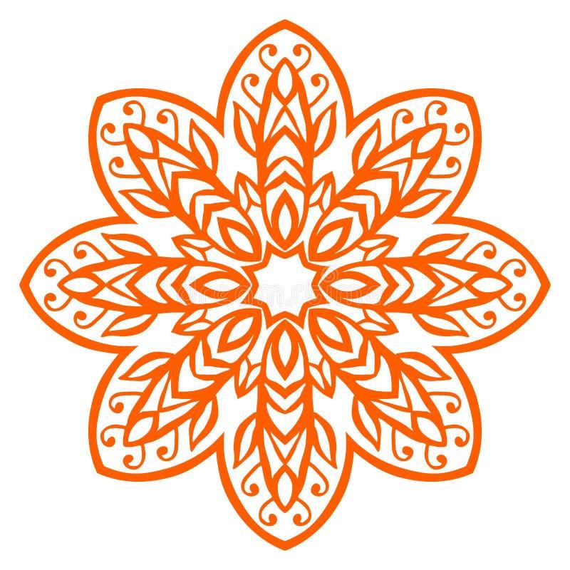 Floral decorative elements. Floral ornamental ethnic decorative element vector illustration