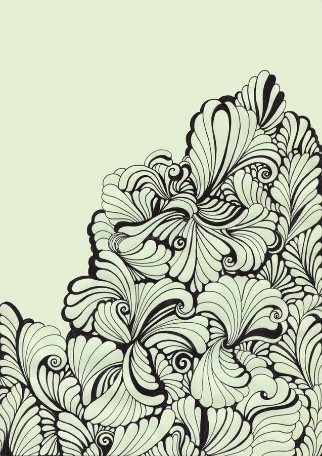 Floral decorative swirl background stock illustration