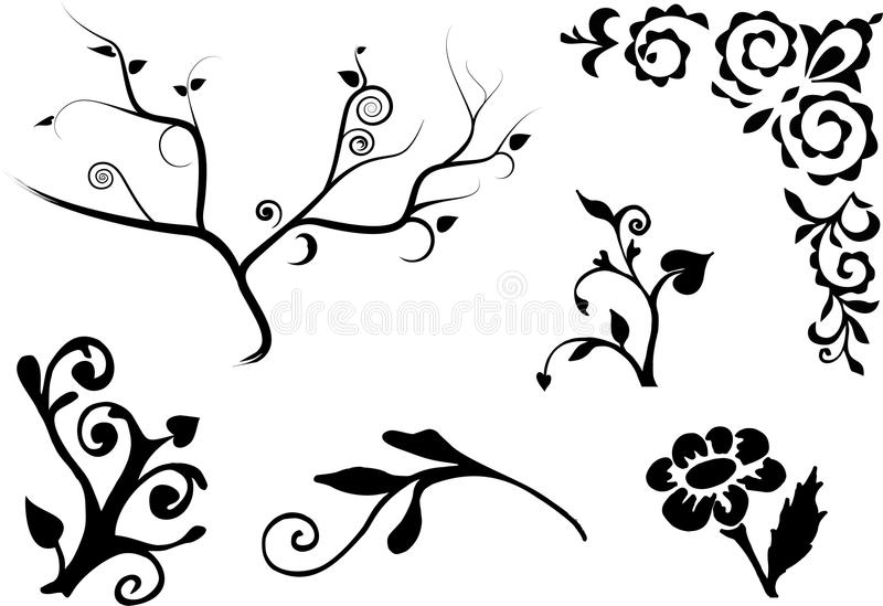 Floral decores royalty free stock photo