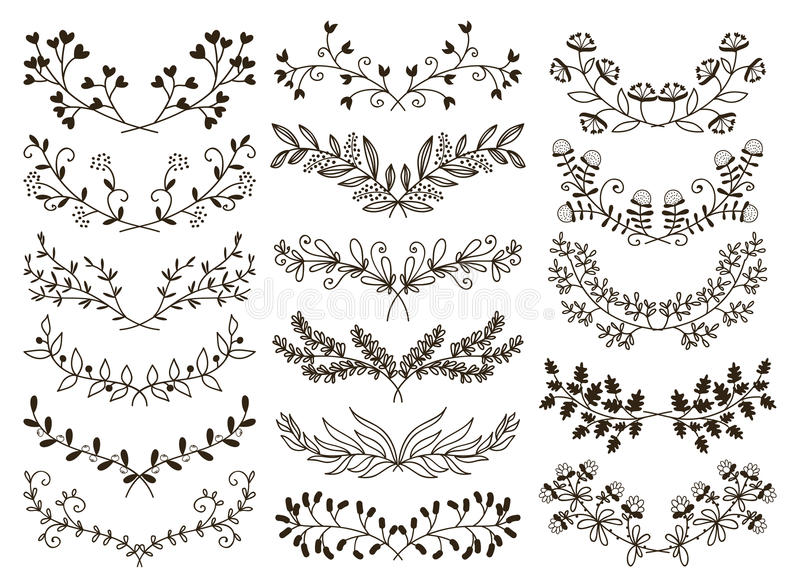 Floral desenhado mão ilustração royalty free