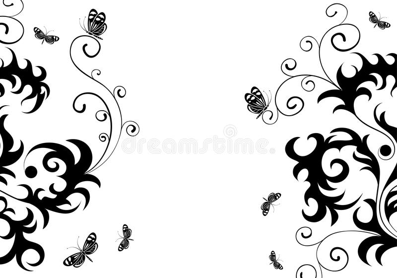 Download Floral design stock vector. Illustration of drawing, border - 15419070