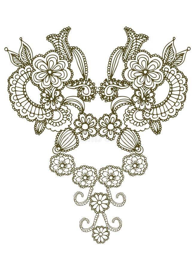 Floral design royalty free illustration