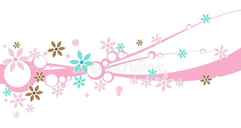 Download A floral Design Banner stock illustration. Image of flourishes - 11256964