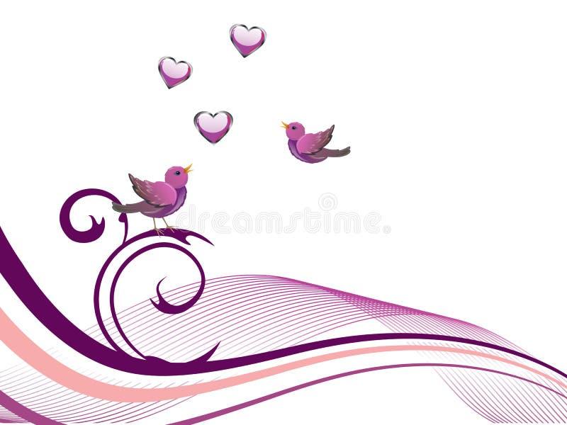 Download Floral design with birds stock illustration. Image of backdrop - 30360448