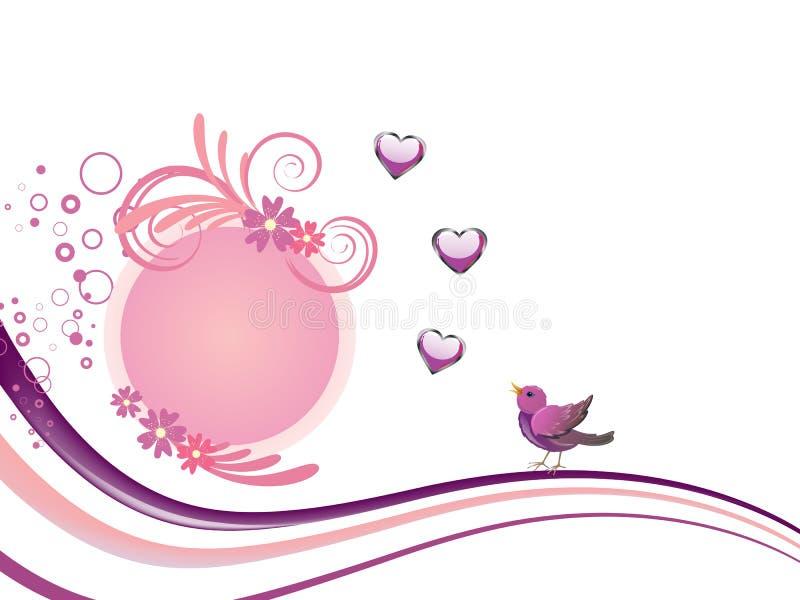 Download Floral design with birds stock illustration. Image of elegant - 30360589