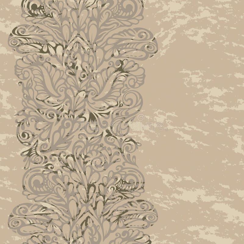 Floral design border in renaissance style royalty free illustration
