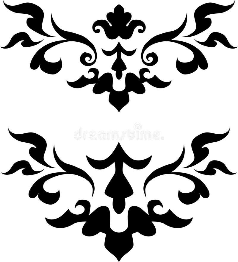 Floral Design Element. In single color royalty free illustration