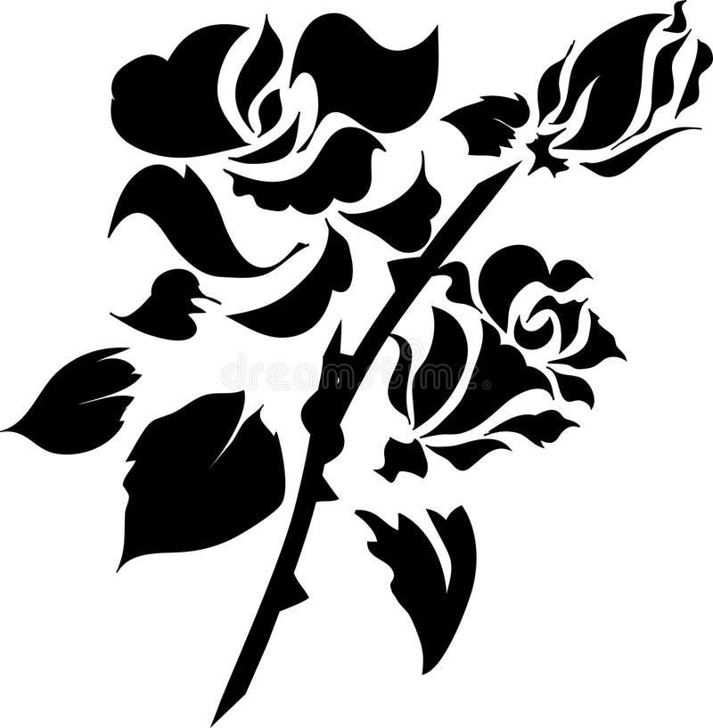 Floral Design Element. In single color vector illustration