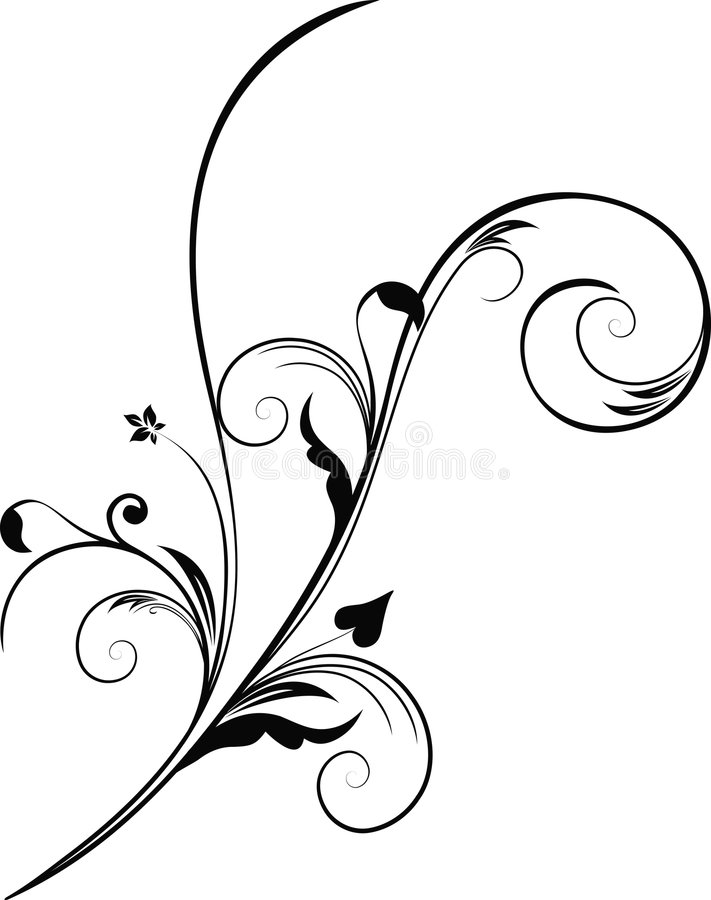 Floral design element stock illustration