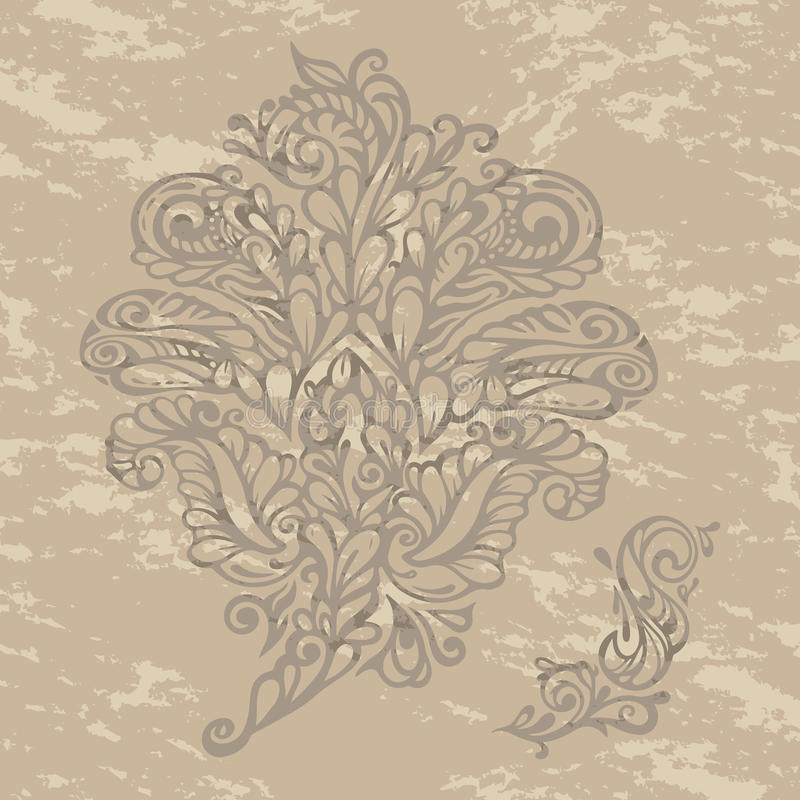 Floral Design Element Renaissance Style Royalty Free Stock Images