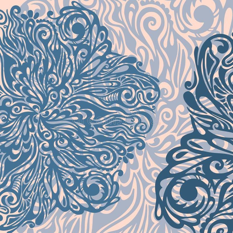 Floral design element vintage style stock illustration