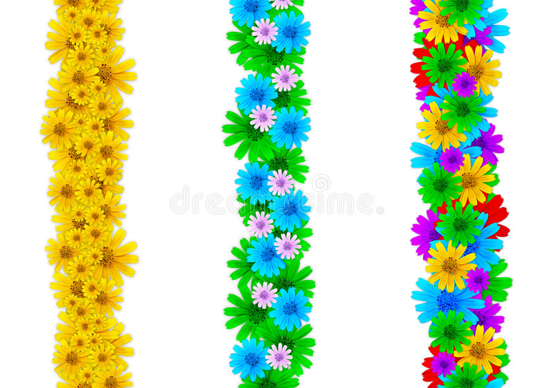 Floral design elements. Colorful floral design elements for page borders or partial design enhancement - very high res royalty free stock photos
