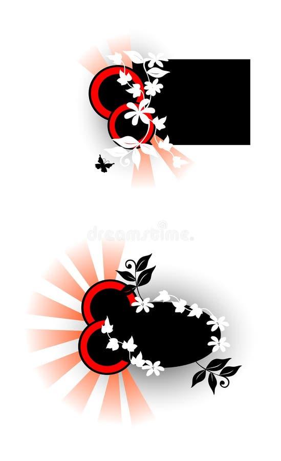 Floral Design Elements stock illustration