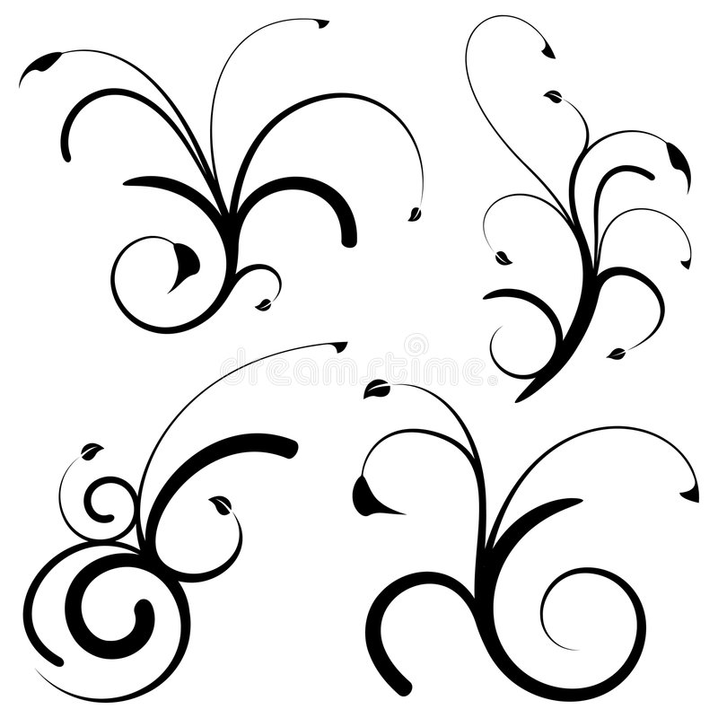 Floral design elements stock photos