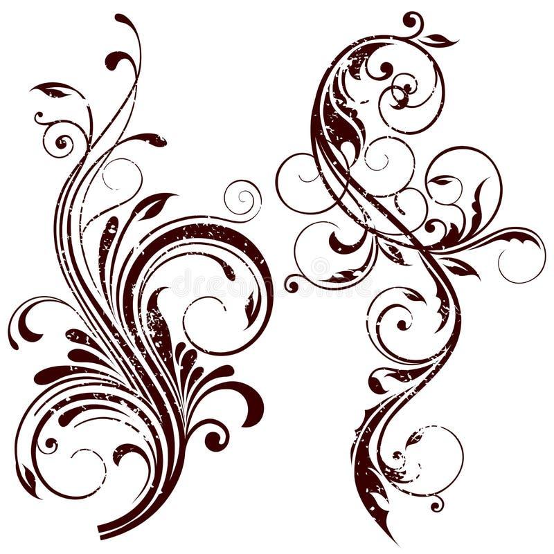 Floral design elements stock image