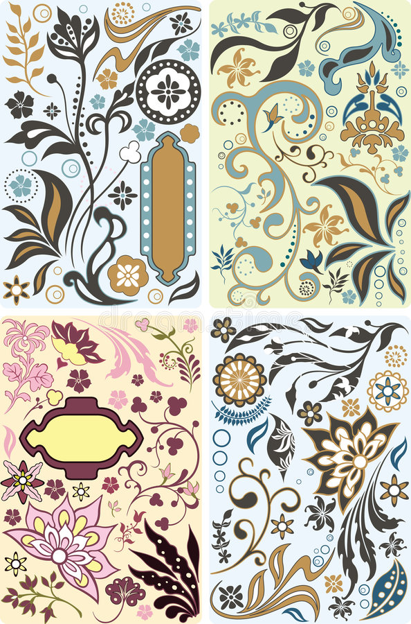 Download Floral design elements set stock vector. Image of design - 8155894