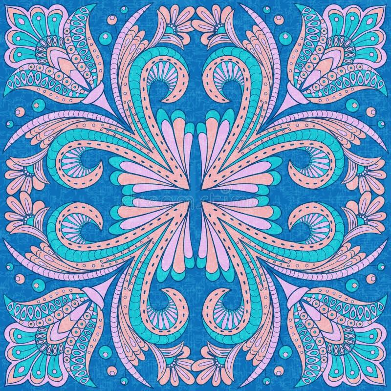 Floral design in folk style vector illustration