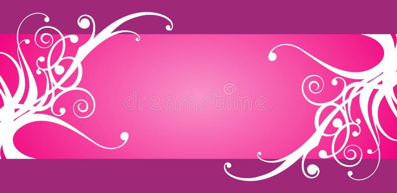 Floral design frame royalty free illustration