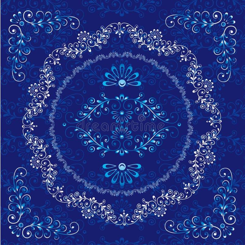 Floral design frame elements royalty free illustration