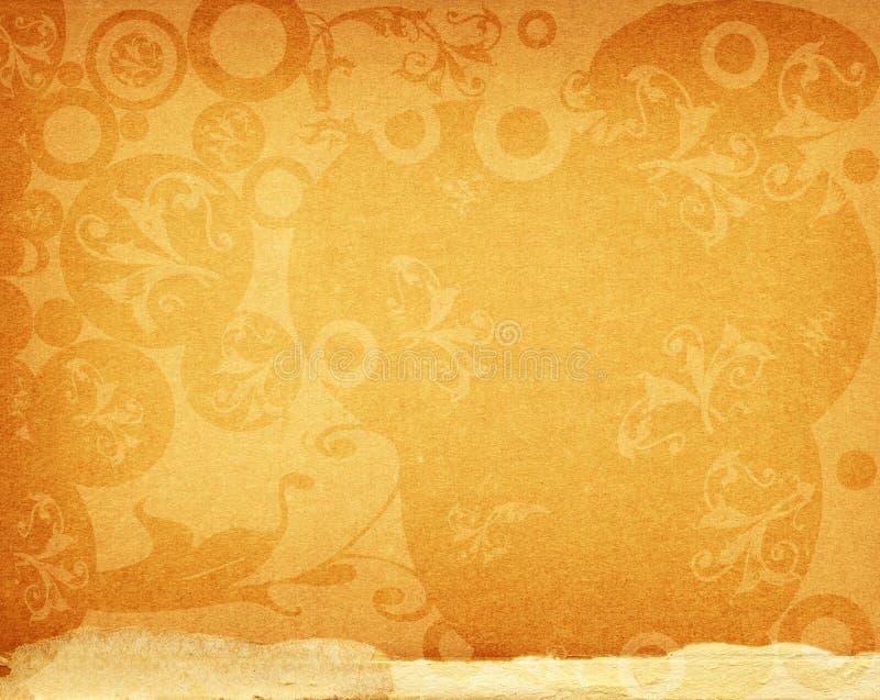 Download Floral design on old paper stock illustration. Image of pattern - 3584034