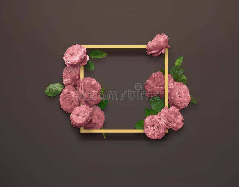 Floral design for Save The Date, Thank you card, mothers day, valentines day, birthday cards. royalty free stock images