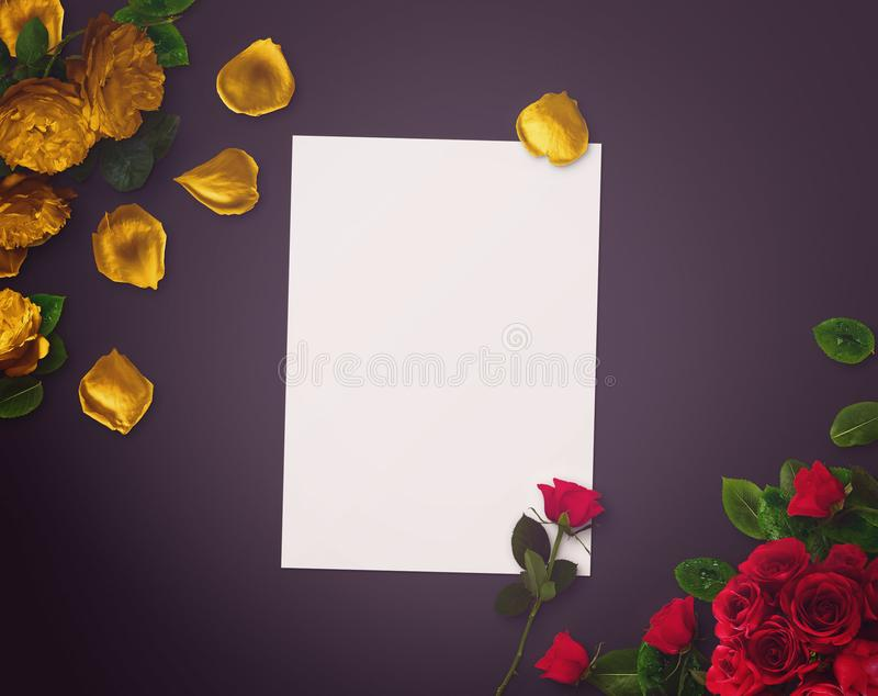 Floral design for Save The Date, Thank you card, mothers day, valentines day, birthday cards. stock images