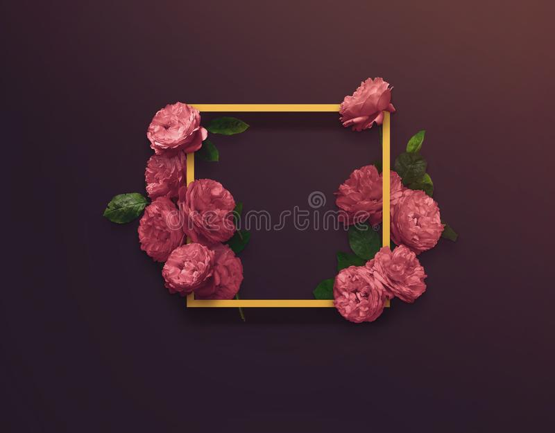 Floral design for Save The Date, Thank you card, mothers day, valentines day, birthday cards. stock photos