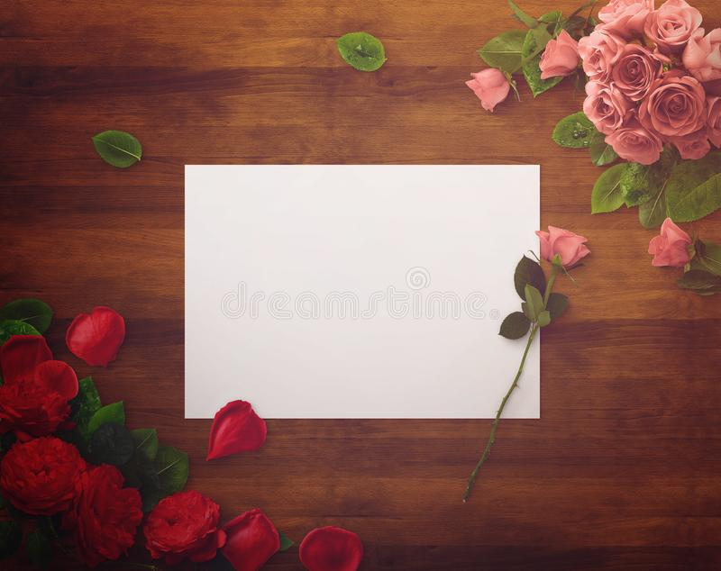 Floral design for Save The Date, Thank you card, mothers day, valentines day, birthday cards. stock photography