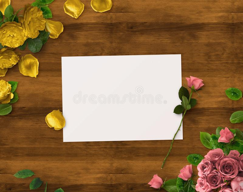 Floral design for Save The Date, Thank you card, mothers day, valentines day, birthday cards. Floral design for Save The Date, Thank you card, mothers day stock photo