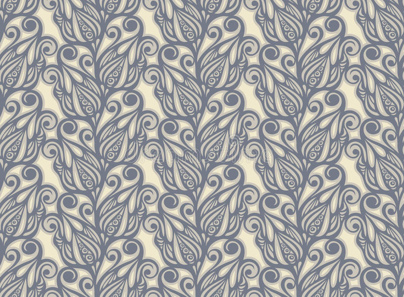 Floral design seamless in vintage style royalty free illustration