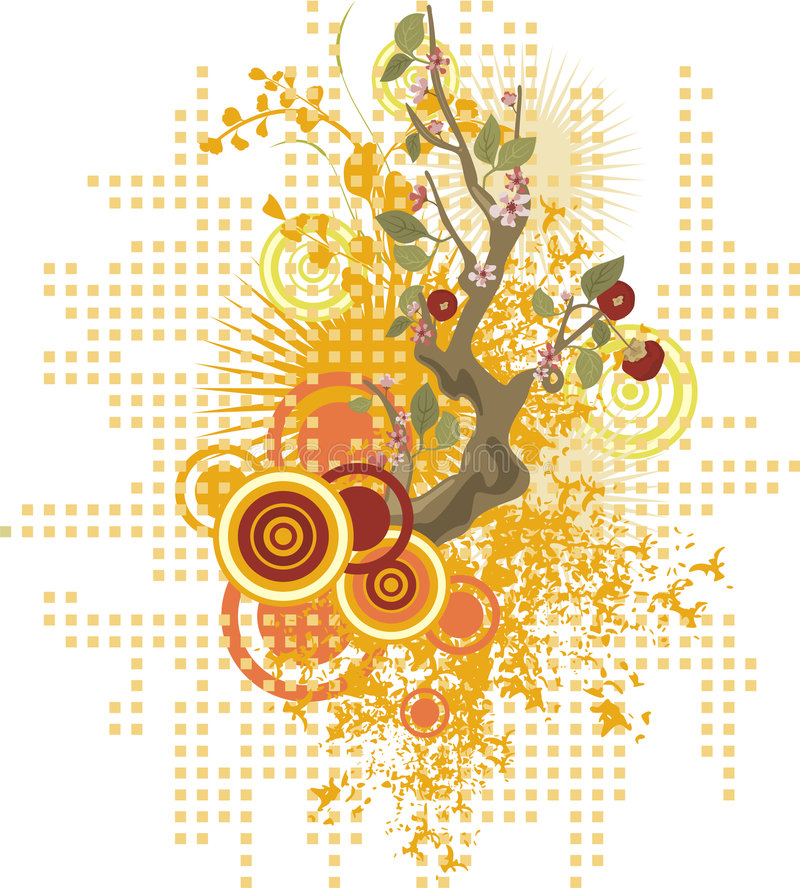 Floral design series stock illustration