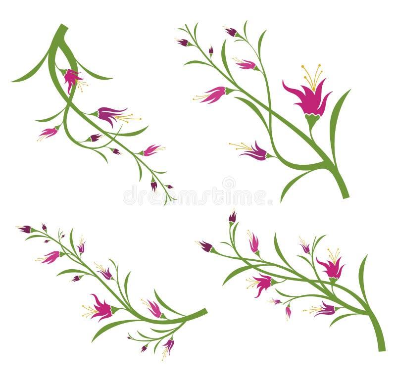 Floral design set. In a single style, illustration series vector illustration