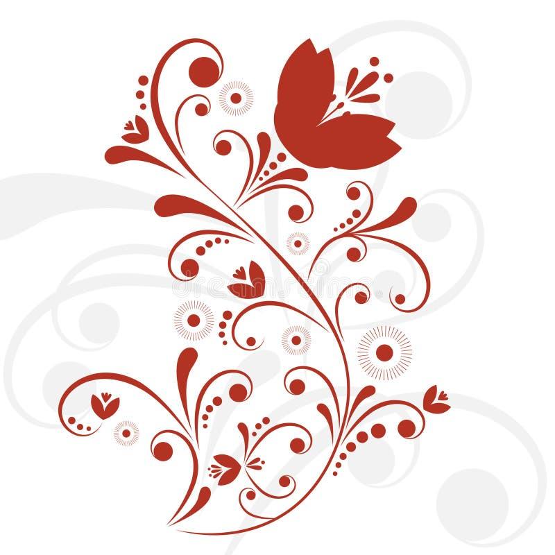 Floral design vector royalty free illustration