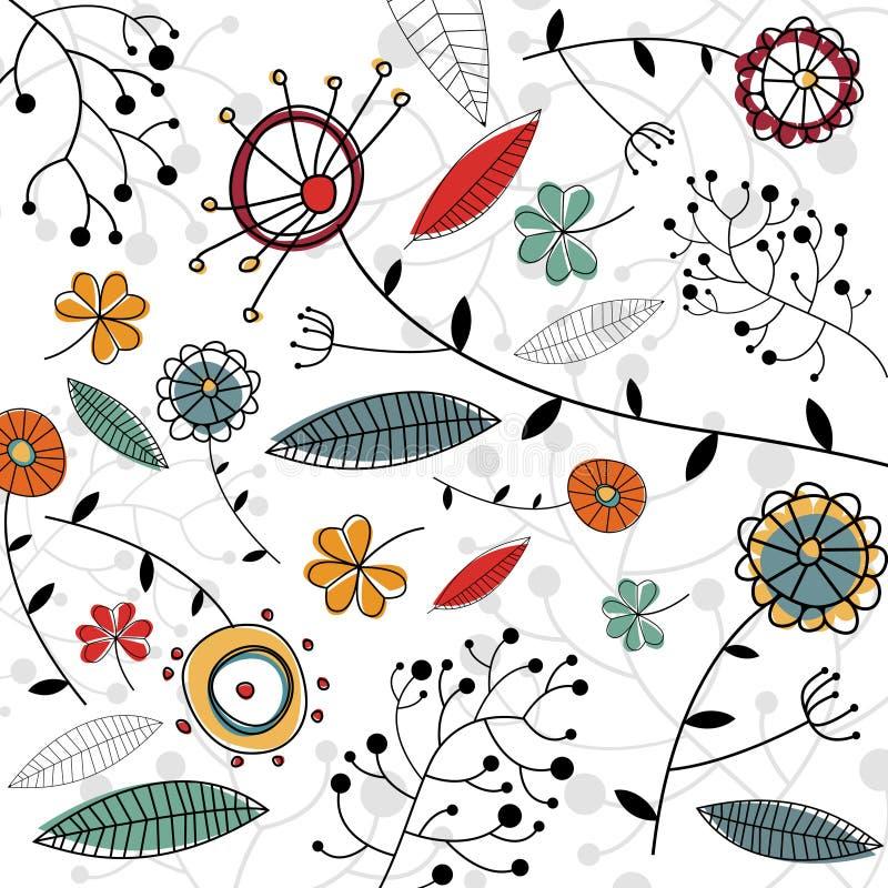 Floral design vector. Decorative style floral background vector stock illustration