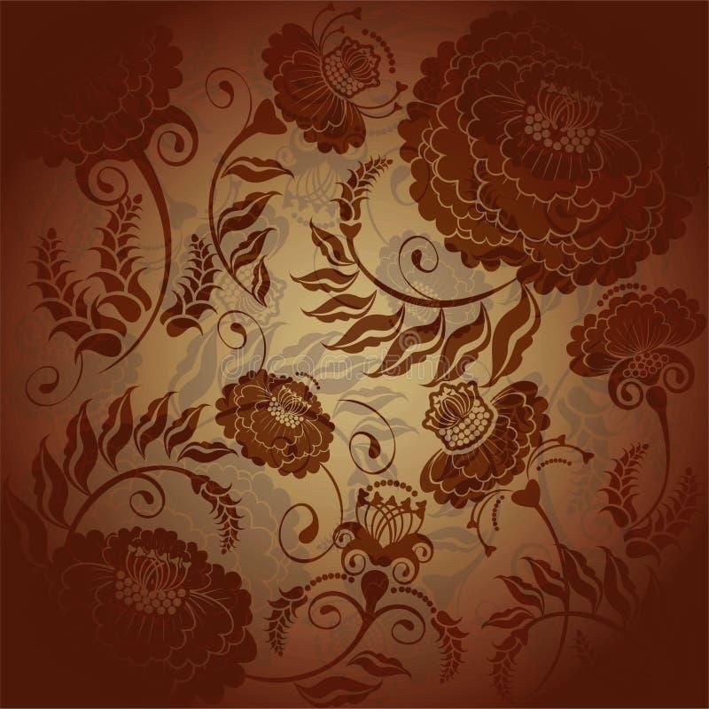 Download Floral designbrown stock illustration. Image of plant - 36600327