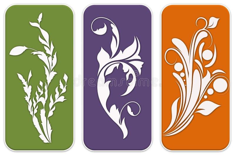 Floral designs stock illustration