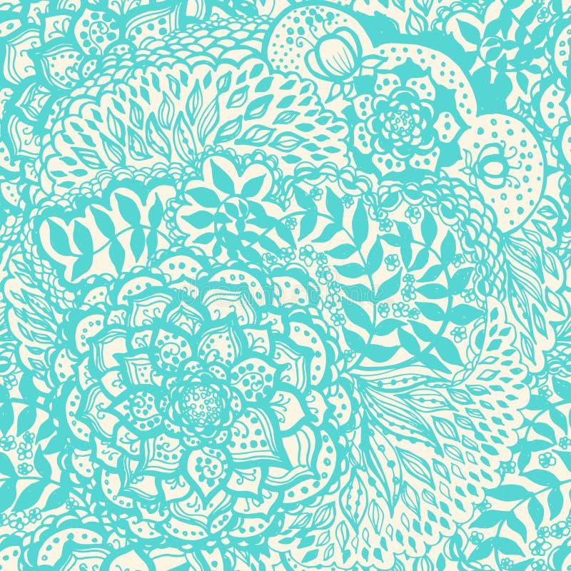 Floral doodle seamless wallpaper pattern. vector illustration