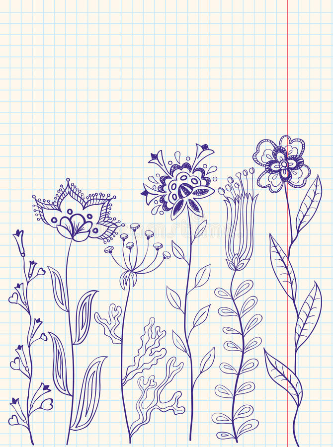 Download Floral doodles stock image. Image of nature, branch, incomplete - 13153631