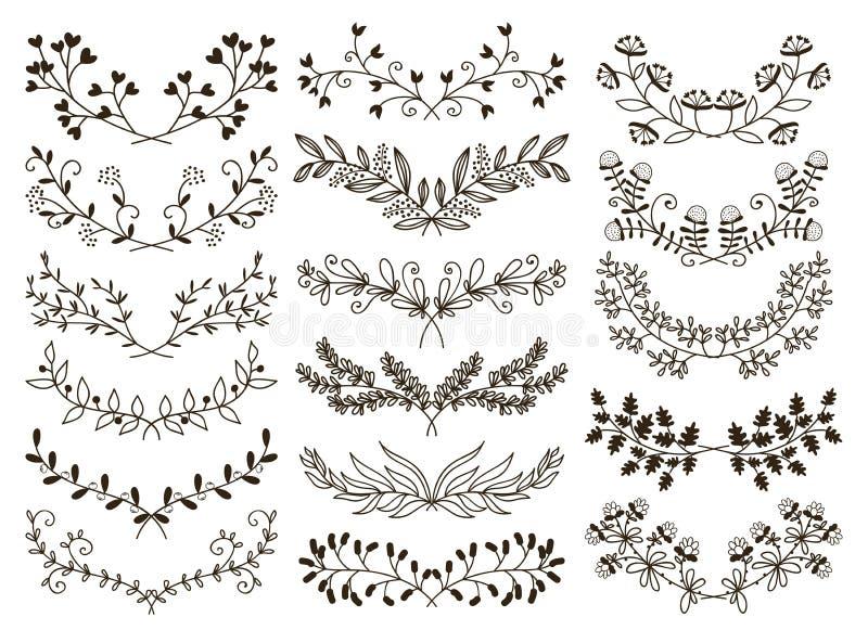 Floral drenada mano libre illustration