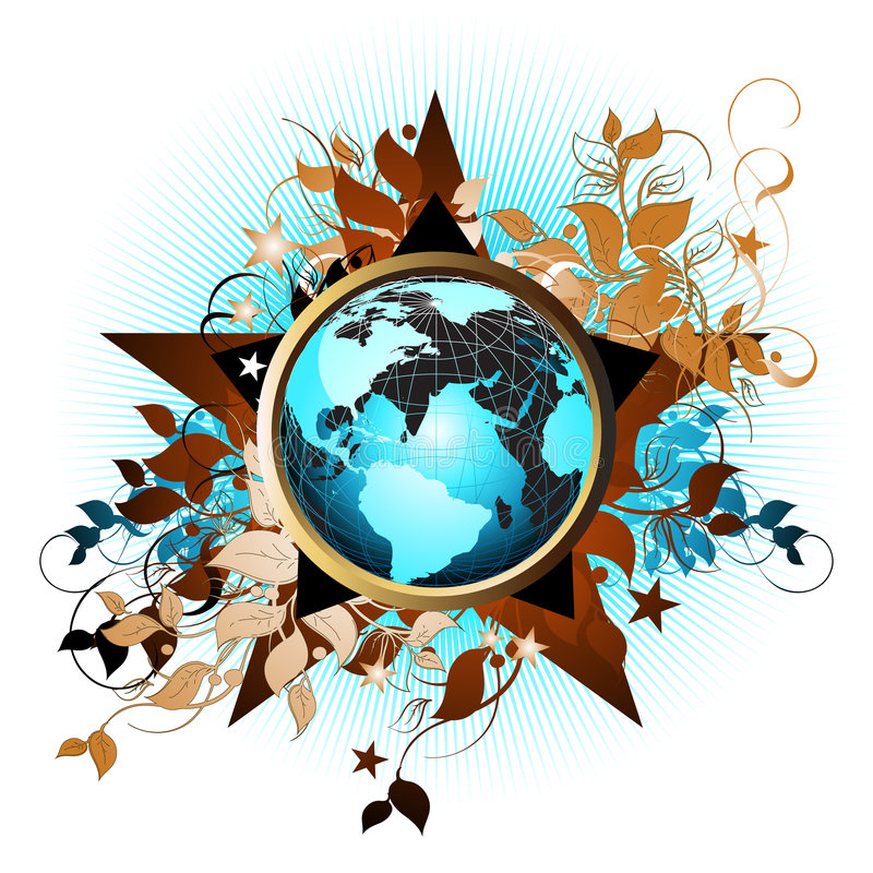 Download Floral Earth Background Royalty Free Stock Images - Image: 4912479