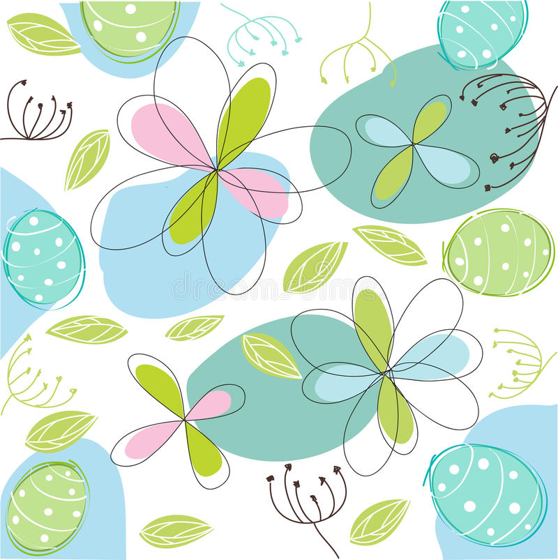 Floral, easter card royalty free illustration