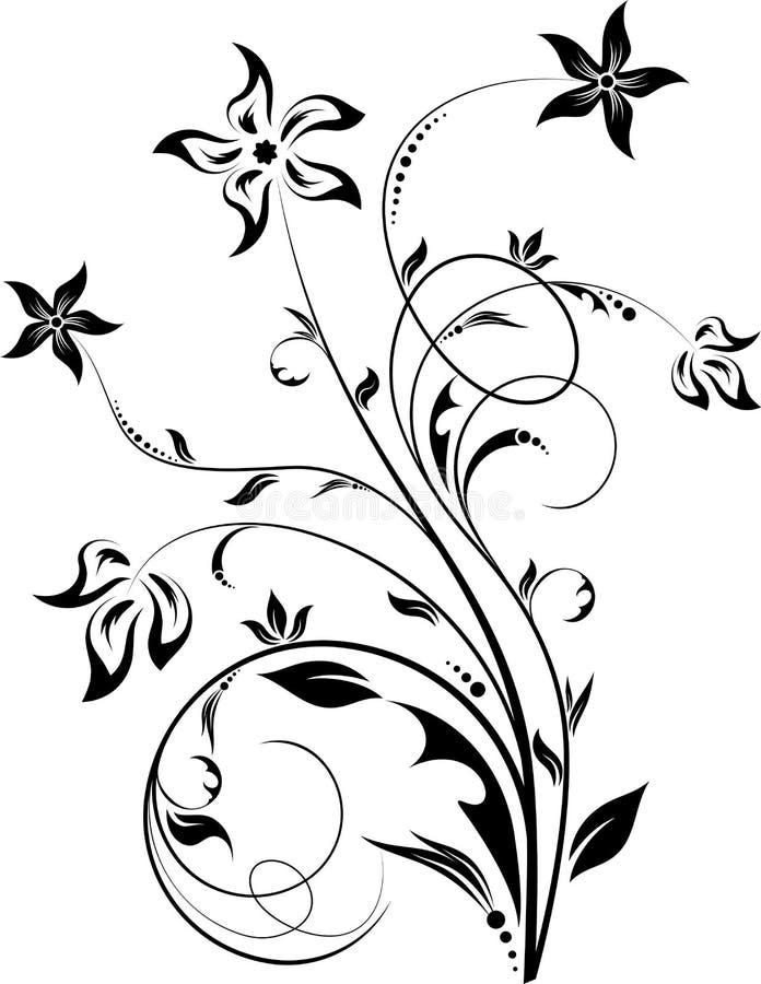 Floral element royalty free illustration