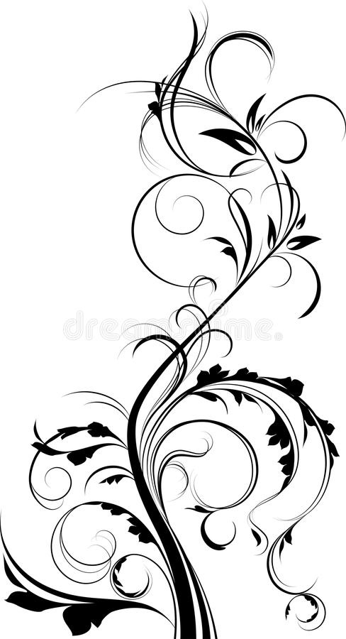 Download Floral element. stock vector. Image of spiral, scroll - 19151748