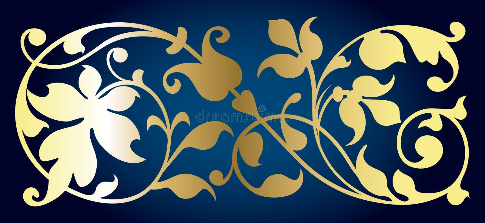 Download Floral element stock vector. Image of flourish, curve - 5186252