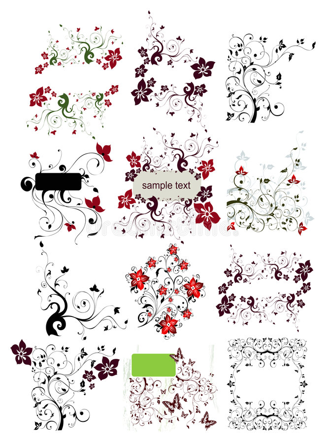 Download Floral element for design stock vector. Image of collect - 8300007