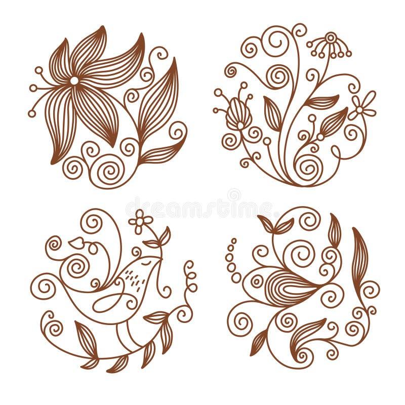 Floral elements vector illustration
